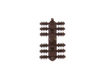 Sommerfeldt 386 Rillen-Isolatoren braun (Beutel à 24 Stk.)