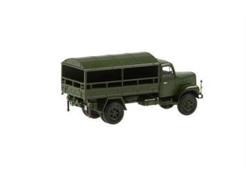 Swiss Line Collection 005151 Saurer 2DM Militärlastwagen Plane hinten und seitlich geöffne