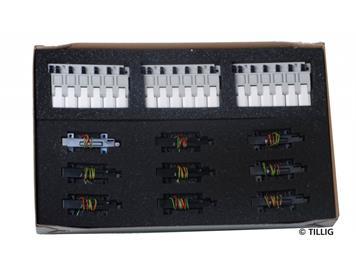 Tillig 01837 Elektrifizierungsset für das HOm/TT-Bettungsgleis