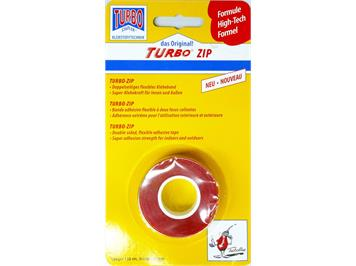 Turbo Zip 16.150.00 transparent, doppelhaftend 150 cm