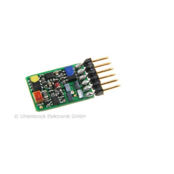 Uhlenbrock 73415 Miniatur-Decoder DCC/Motorola/SX 6pol. Direktschnittstelle