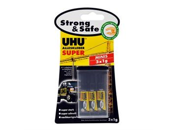 UHU 42210 Alleskleber Super Strong & Safe Minis (3)