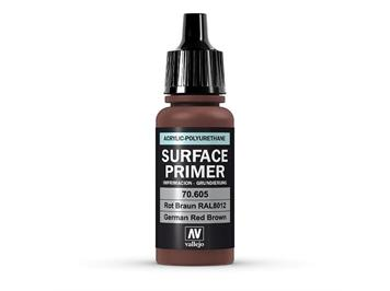 Vallejo 70.605 Model Air 17ml, SURFACE PRIMER ROT BRAUN, RAL8012