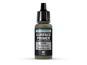 Vallejo 70.608 Model Air 17ml, SURFACE PRIMER US OLIVE DRAB
