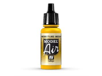Vallejo 71.002 Model Air Medium Yellow 17ml
