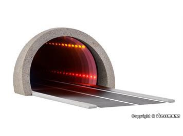 Viessmann 5098 H0 Straßentunnel modern, mit LED Spiegeleffekt und Tiefenwirkung