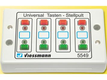 Viessmann 5549 Universal Tasten-Stellpult, rückmeldefähig