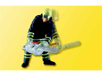 Viessmann Feuerwehrmann mit Kettensäge HO