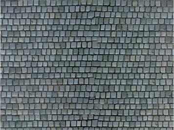 Vollmer 46041 Mauerplatte Pflasterstein aus Karton, 25 x 12,5 cm