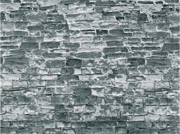 Vollmer 46055 Mauerplatte Naturstein, grau
