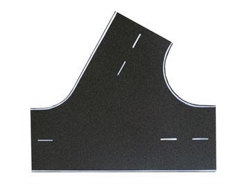 Vollmer 48262 Strassenplatte Asphalt 60 Grad-Einmündung HO