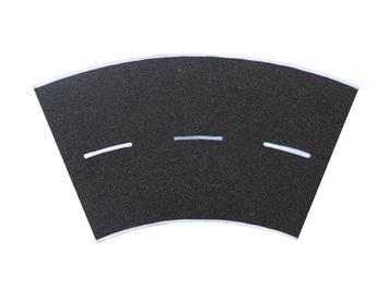 Vollmer 48266 Straßenplatte Asphalt, 45°-Kurve, Radius 15 cm HO