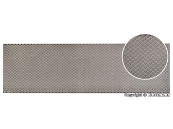 Vollmer 48732 0 Dachplatte Schiefer in Wabendeckung aus Steinkunst, L 54 x B 16,3 cm