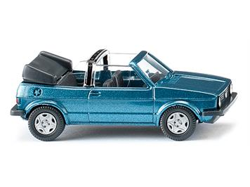 Wiking 004604 VW Golf I Cabrio oceanic blue metallic HO