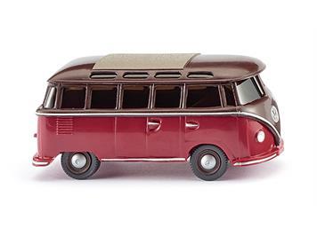 Wiking 031704 VW T1 Sambabus, braun/rot HO
