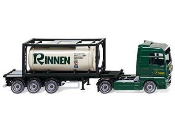 "Wiking 053601 Tankcontainersattelzug 20 MAN TGX ""Rinnen"" HO"