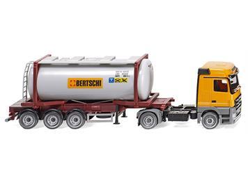 """Wiking 053602 Tankcontainersattelzug Swap MB Actros """"Bertschi"""" HO"""