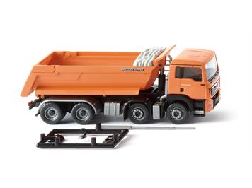 Wiking 067448 Muldenkipper MAN TGS Euro 6 Meiller, orange