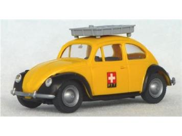 """Wiking 081059 VW Käfer 1200 """"Die Post"""" mit Gepäckträger (Sondermodell Schweiz)"""