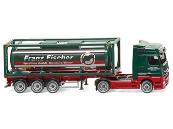 "Wiking 53603 Tankcontainersattelzug MB Actros Spedition ""Franz Fischer"" HO"