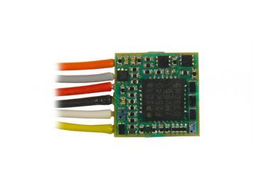 ZIMO MX616 Miniaturdecoder mit 9 Litzen, 6 Fu-Ausgänge