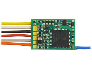 ZIMO MX617F Miniatur-Decoder mit 6-pol. Schnittstelle NEM651 an Litzen