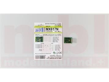 ZIMO MX617N Miniatur-Decoder mit 6-pol. Direktschnittstelle NEM651, N, H0m