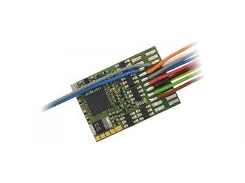 ZIMO MX633F Decoder 1,2 A, 10 Fu-Ausgänge, mit 6poliger Schnittstelle an Litzen