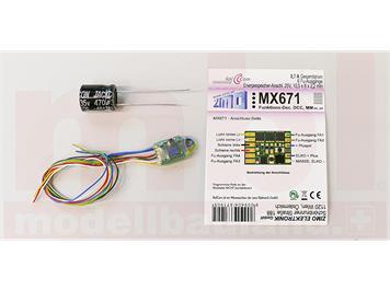 ZIMO MX671 Funktiondecoder, 6 Funktionsausgänge an Litzen