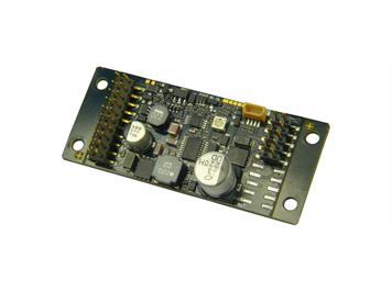 ZIMO MX696S Großbahn-Sound-Decoder (Schmalform), 10 Watt Audio an 4 Ohm, 8 Fu-Ausgänge