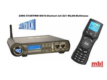 ZIMO STARTWM Startset MX10 Basisgerät, WLAN-MultiMaus, CAN-Fahrpultkabel + Netzteil 300W