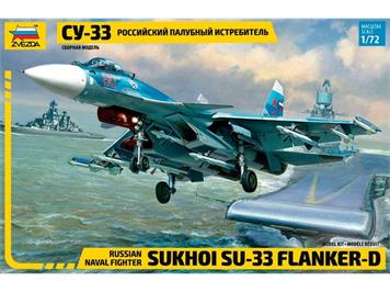 Zvezda 7297 Sukkoi SU-33 Russian Naval Fighter 1:72