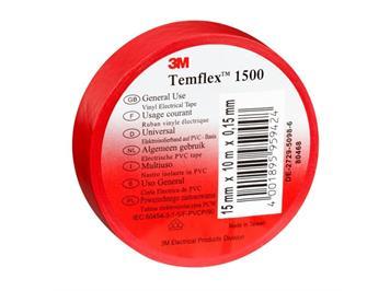 3M Temflex 1500 Elektroisolierband auf PVC-Basis rot 19 mm x 20 m x 0,15 mm