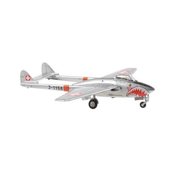 "ACE 001010 J-1156 Vampire DH-100 Mk 6 ""Sharkmouth"" 1:72 lim. Edition / Sonderserie CH"
