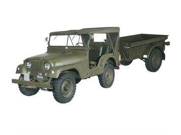 ACE Arwico Collection Edition 005102 Armee-Jeep Willys M38A1 mit Anhänger HO