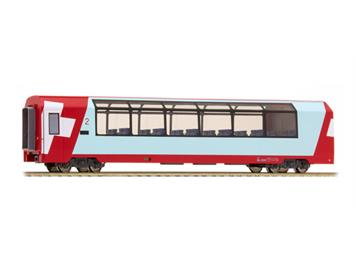 """Bemo 3689 125 RhB Bp 2535 Panoramawagen """"Glacier Express"""" HO"""