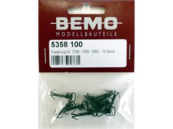 Bemo 5358 100 Kupplung für 1258, 1259, 1262 - Inhalt: 10 Stück