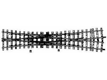 Bemo H0m 12° Doppelkreuzungsweiche gekürzt, 182mm