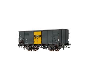 """BRAWA 67450 gedeckter Güterwagen G10 """"UHU"""" DB N"""