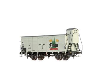 """BRAWA 67471 gedeckter Güterwagen G10 """"Dom Kölsch"""" DB N"""