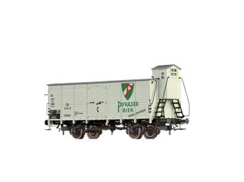 """BRAWA 67480 gedeckter Güterwagen G10 """"Pyraser Bier"""" DB N"""