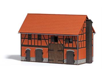 Busch 1507 Scheune mit grossem Stall HO