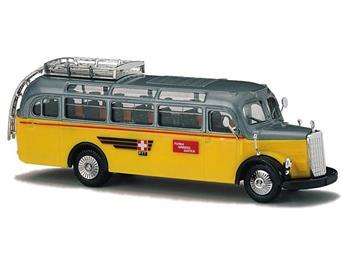 """Busch 41035 Mercedes 0-3500 """"Schweizer Postbus"""" HO"""