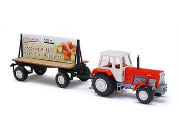 Busch 42807 Traktor ZT 300 mit Plakatanhänger HO