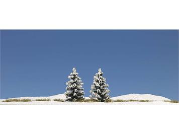 Busch 6151 2 verschneite Fichten 55 mm HO