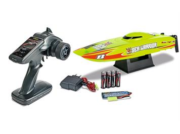 Carson 500108008 RC-Boot Micro Sea Warrior, 2,4 GHz, 100 % RTR