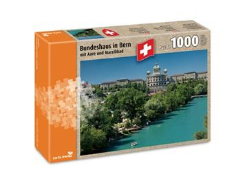 Carta.Media Puzzle 7206 Bundeshaus in Bern mit Aare (1000-teilig)