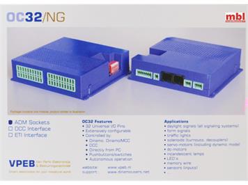 DINAMO OC32/NG-A BASIS, multifunktionaler Decoder mit 32 definierbaren Ausgängen.