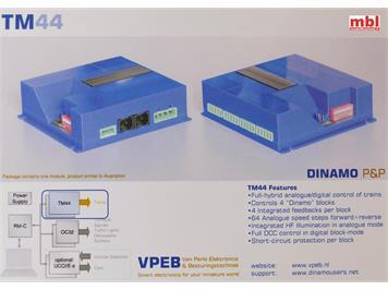 DINAMO TM44 Modelleisenbahn Blocksteuerung für Analog- & Digitalbetrieb