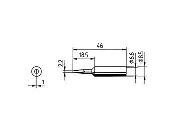 ERSA LF-ERSADUR-Dauerlötspitze 2,2 mm Meissel zu ERSA RDS 80